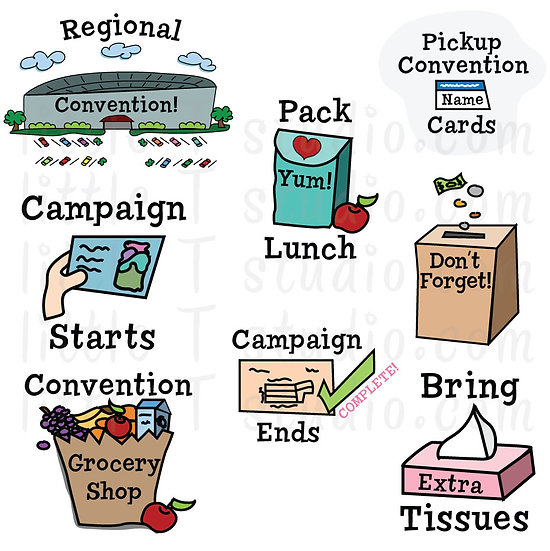 Regional Convention Variety Pack Digital Clipart