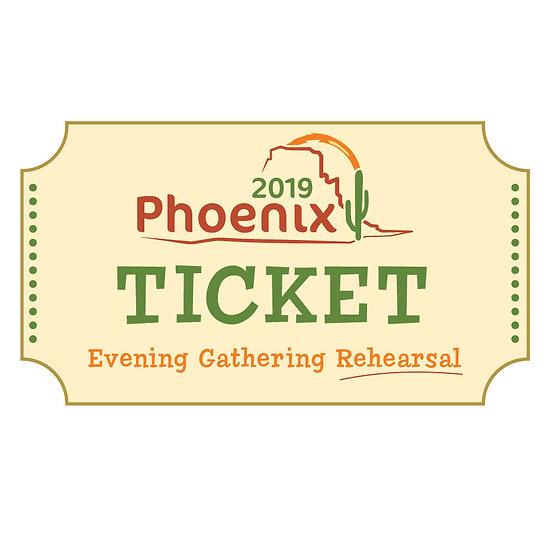 Tonya McLeroy Evening Gathering Rehearsal Ticket