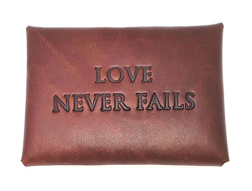 Contact Card Holders - Leather - English Embossed Quotes