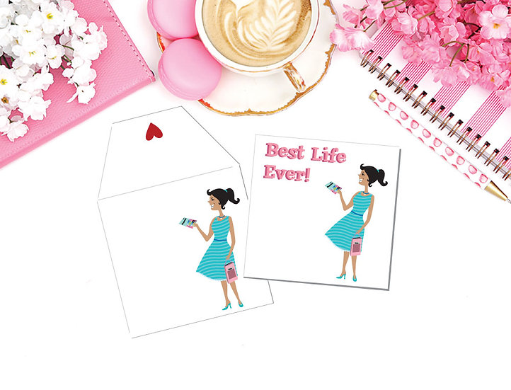 Printable 12 Card Set! Best Life Gift Cards & Matching Envelopes