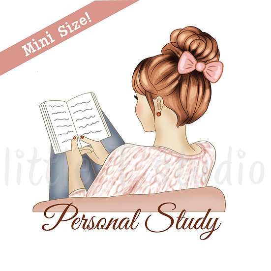 Personal Study Mini Size Stickers - Light Skin, Red Hair - Style 426M