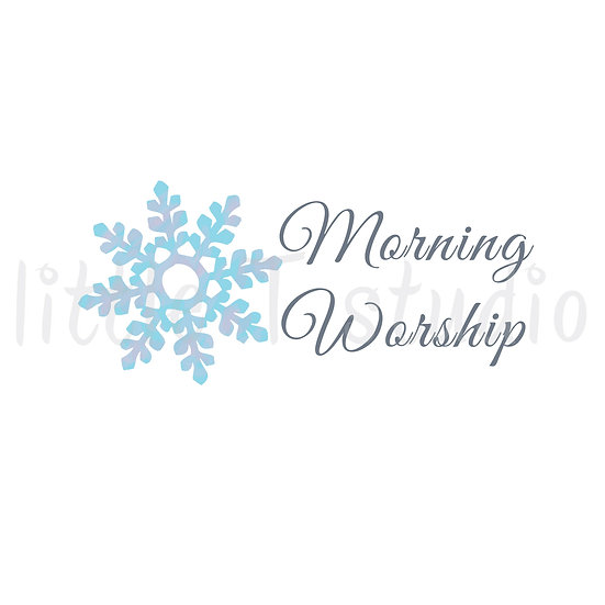 Morning Worship Reminder Stickers - Winter Snowflakes - Style 1138 or 330M