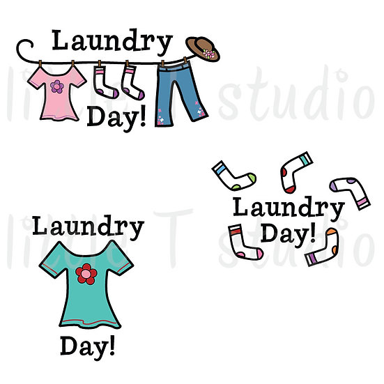 Laundry Day Reminder Stickers - Style 110