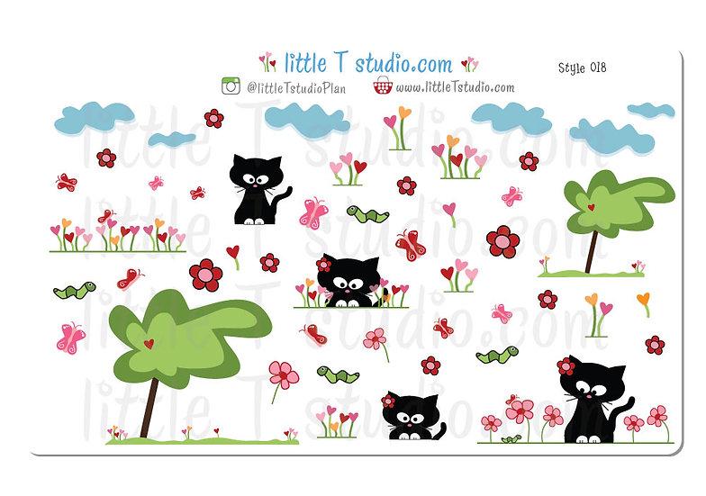 Abby the Cat Enjoys Springtime! - Style 018