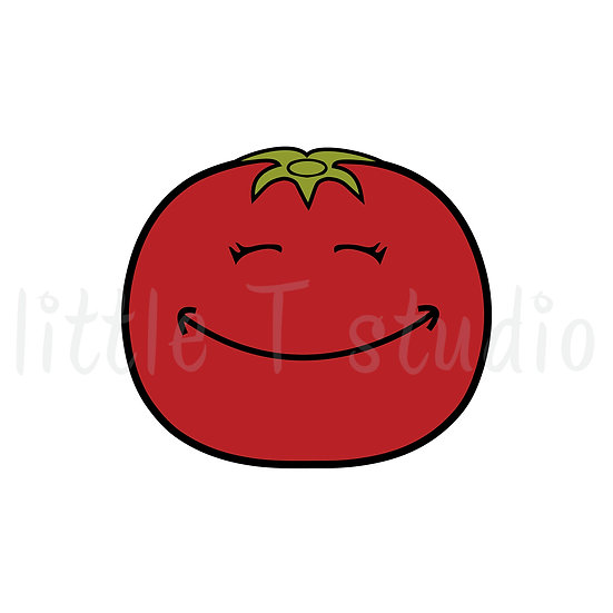 Tomato Healthy Eating Reminder Mini Size Icon Stickers - Style 147M