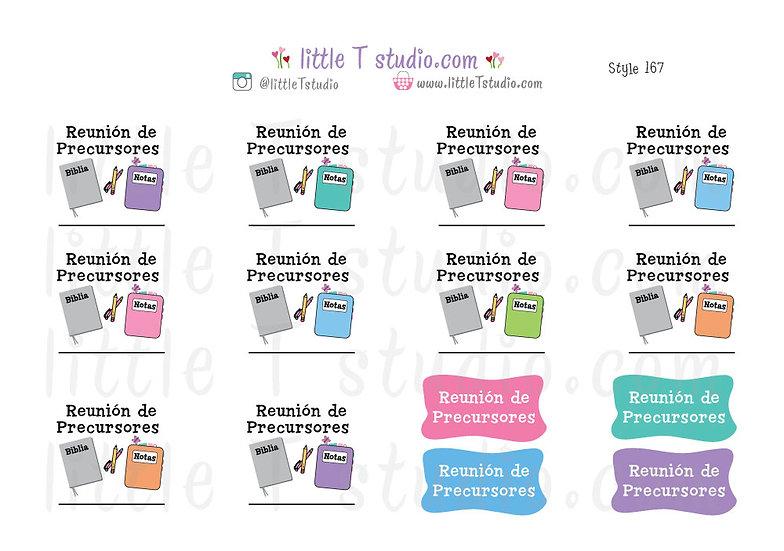 Reunión de Precursores Reminder Stickers - Style 167