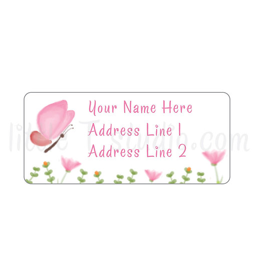 Return Address Labels - Spring Butterfly - Style 758
