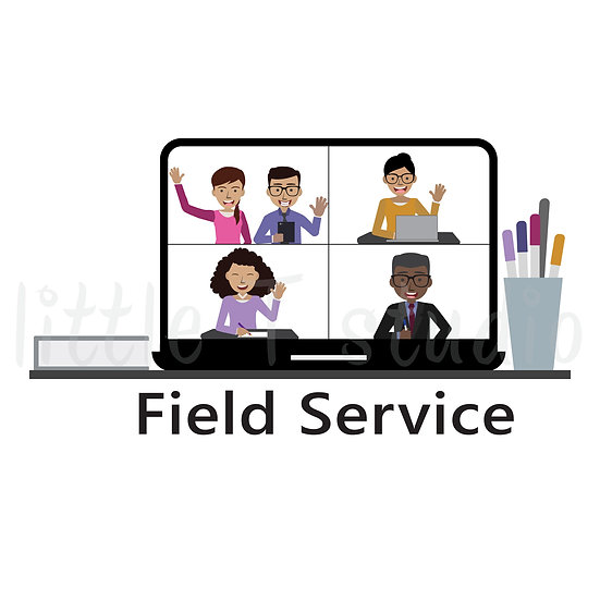 Field Service on Zoom Stickers - Style 763 or 341M