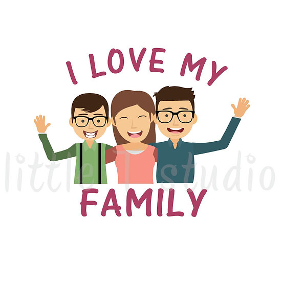 I Love My Family Stickers - Style 1052