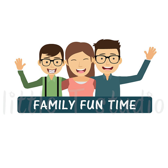 Family Fun Time Stickers - Style 1051