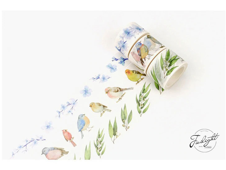 Washi Tape - Eucalyptus, Butterflies, Wild Flowers
