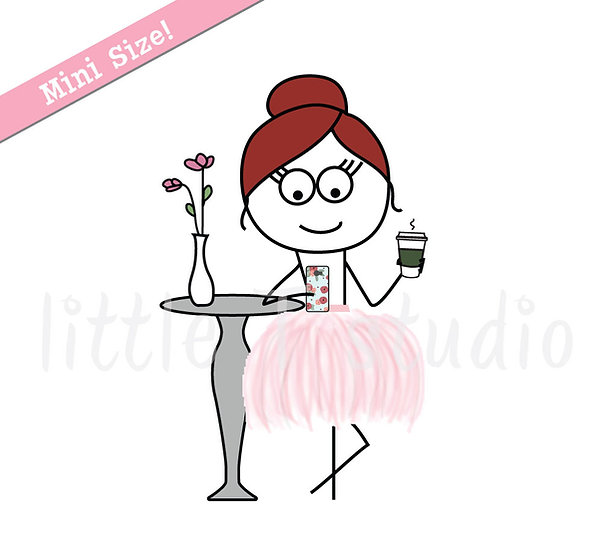 Busy Ballerina Mini Size - Post on Social Media Reminder Stickers - Style 233M