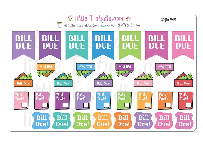Bill Due Variety Pack - Style 040