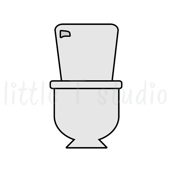 Clean Bathroom Toilet - Mini Size Stickers - Style 422M