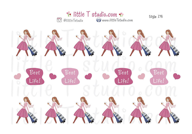Best Life Cart Girl - Field Service Stickers - Style 176