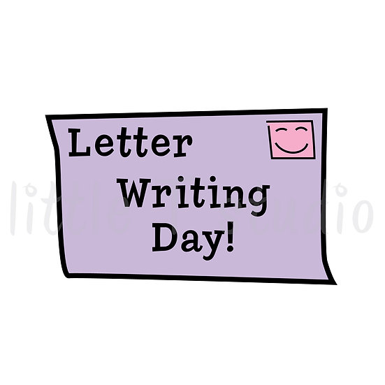 Letter Writing Day Reminder Stickers - Style 095 or 010M