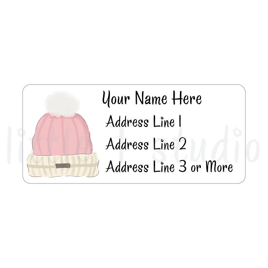 Return Address Labels - Snow Day - Style 763