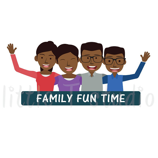 Family Fun Time Stickers - Style 1064