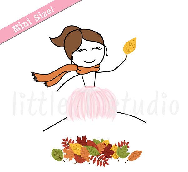 Busy Ballerina Mini Size - Happy Fall! Sticker Set - Style 214M