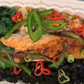Baked Salmon with Quinoa Salad