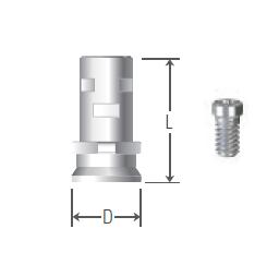 Temporary Cylinder Length 10 UFII Regular,Wide