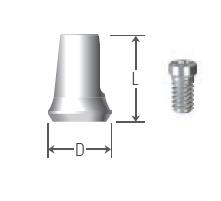 Cemented Cylinder Length 8 UFII Regular,Wide