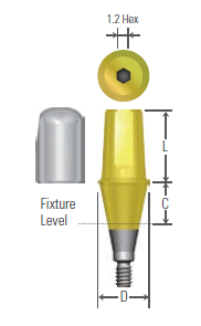 Solid Abutment Ø4.0 DIOUFII Narrow