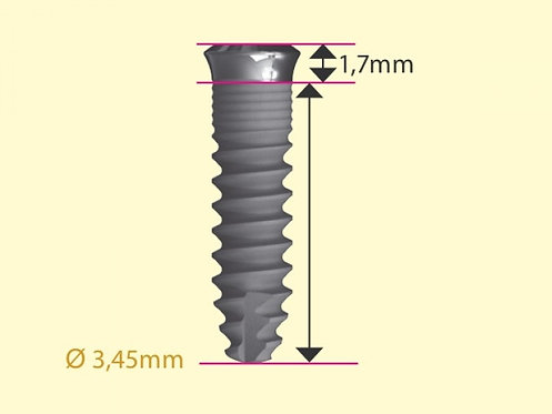 ICX-plus implantat gul, Ø 3,45mm