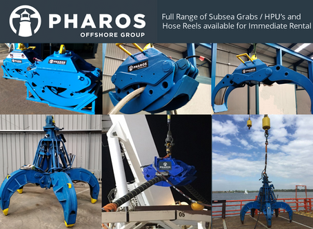 Full range of Subsea Grabs / HPU's and Hose Reels available for rental.