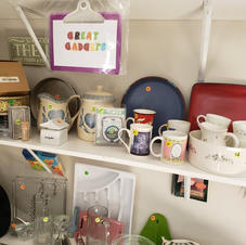 Kitchen Korner with Cups, Kitchen gadgets, appliances and more!