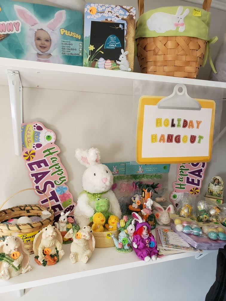 Holiday Hangout, items just in time for Easter.
