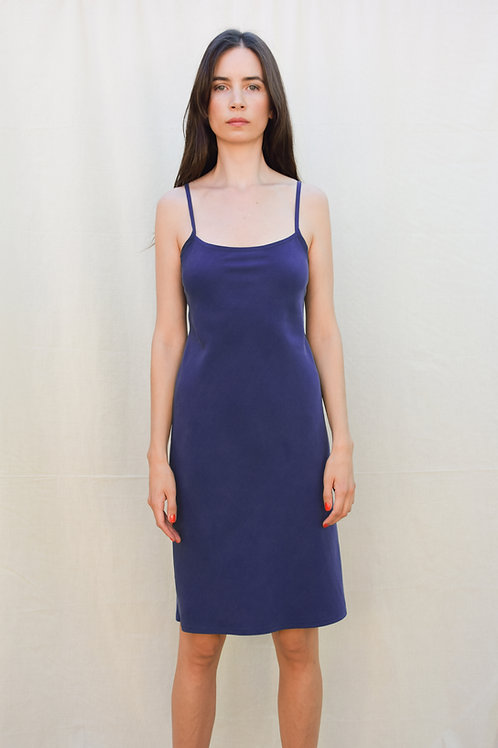 LOLA SLIP DRESS BLUE