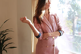 Gigi blazer dusty rose
