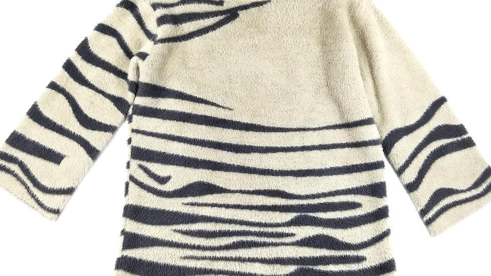 Orange cream/grey sweater size Sm/Med