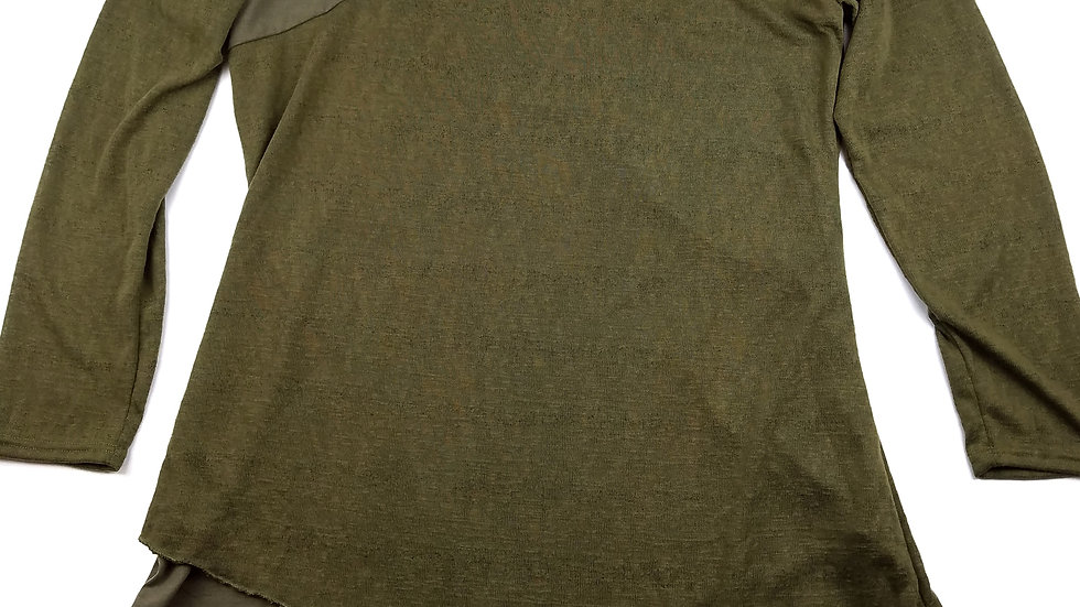 Miss Look green tunic top size 5XL