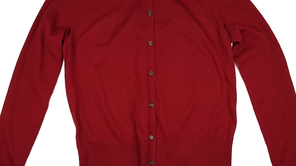 Loft red cardigan with bow size medium