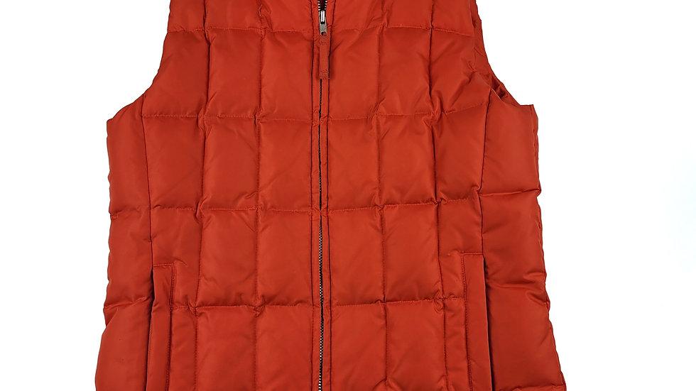 Gap orange puffer vest size small