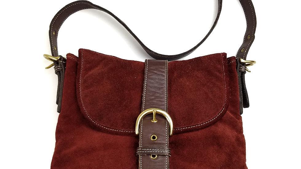 Coach vintage suede handbag
