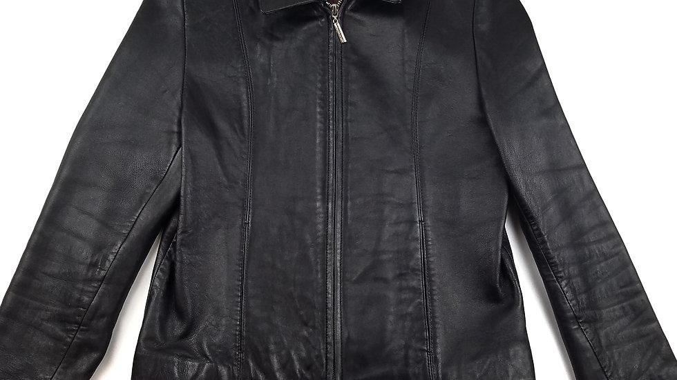 Juliet Michelle black leather jacket size medium