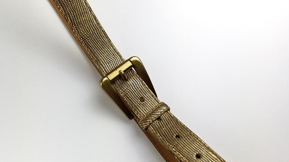 Michael Kors gold leather belt size medium