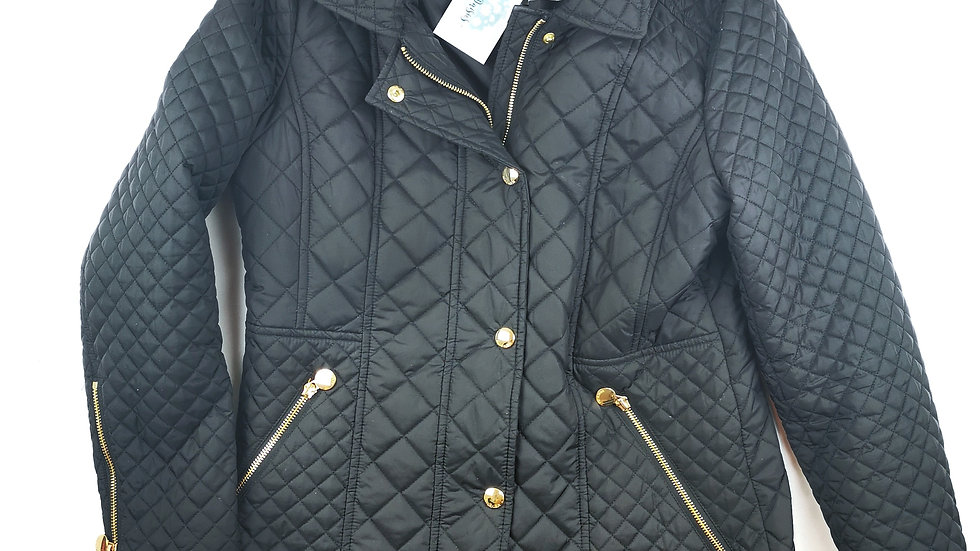 Anne Klein black hooded jacket size Med