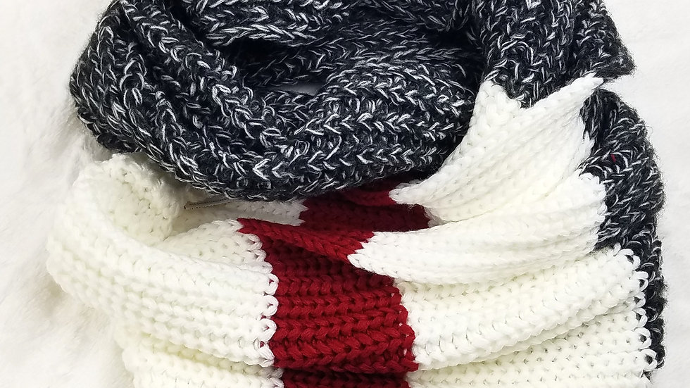 Work Collection infinity scarf dark grey