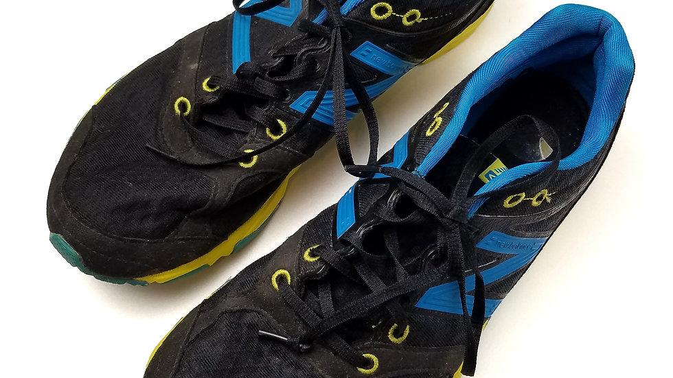 New Balance black/ blue/neon yellow size 9