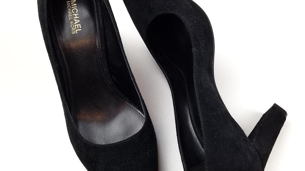 Michael Kors black suede heels size 7