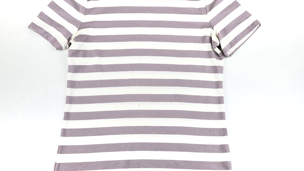 A New Day lilac/white strip tshirt size small