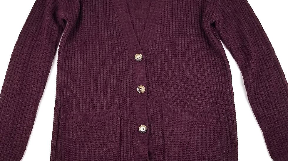 Urban Heritage burgundy knit cardigan size medium