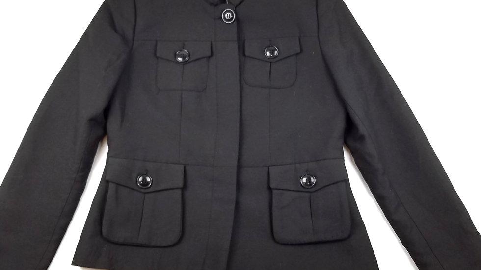 H&M black military style jacket size 14