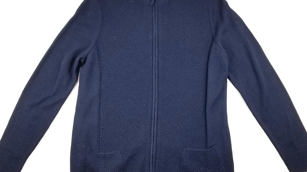 Les Collection Mat navy zip sweater size medium