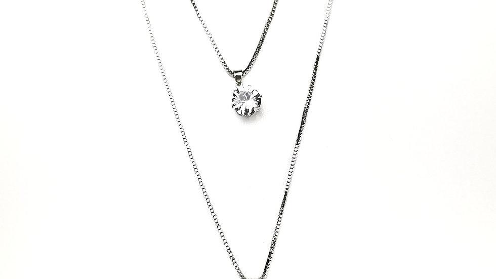 Cross with rhinestone pendant