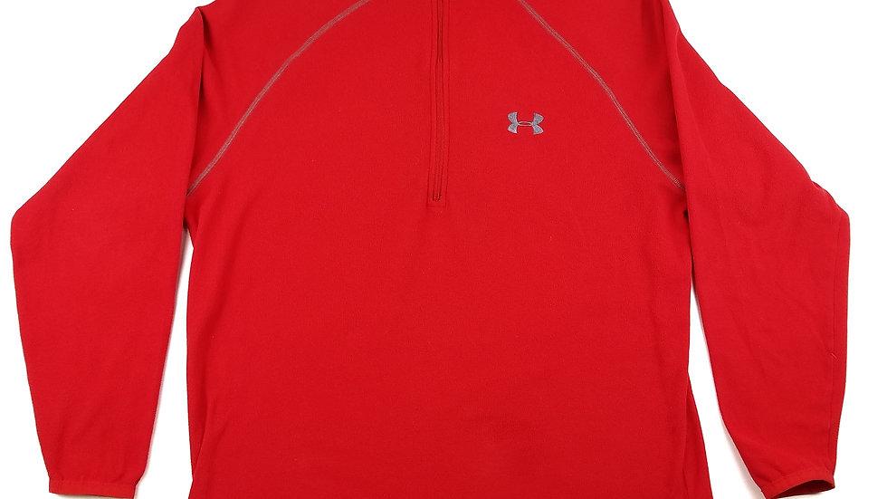 Underarmour red fleece 1/4 zip size small